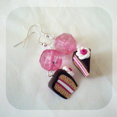 PINK CAKE earrings