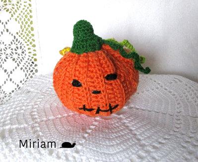 Portachiavi con zucchetta di Halloween