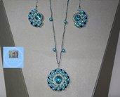 Parure Tiffany con perle e perline