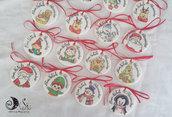 Addobbo natalizio Le medaglie del buon natale dipinte a mano