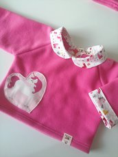 Maglioncino unicorno rosa fucsia 6-9 mesi