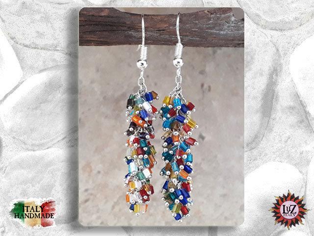 Orecchino grappolo Vetro - Conteria: Multicolor - Collezione Sera LuZ Italy