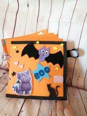 Quiet book Libro sensoriale Libri gioco Halloween Vampirina glitter