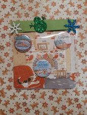 Set di 3 magneti natalizi con cartolina