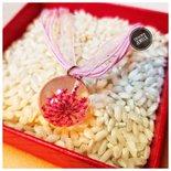 Collana fiori rosa handmade