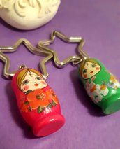 Portachiavi handmade con matriosca