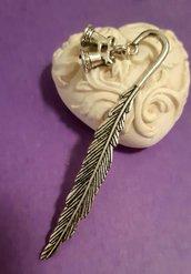 Segnalibro in color argento antico