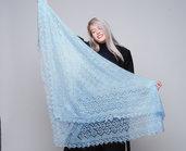 sciarpa, sciarpa di lana, mantellina, lana di capra, sciarpe, sciarpa blu, scialle, scialle caldo, scialle di lana, handmade