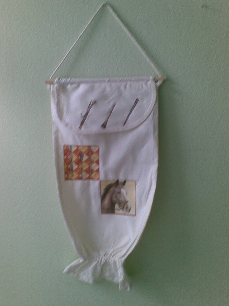 Porta sacchetti in stoffa di cotone 100 per la casa e - Porta sacchetti plastica ...