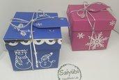 Coppia di scatoline regalo Natale