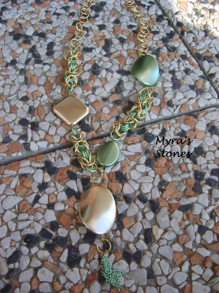 "Collana ""Green & Gold"""