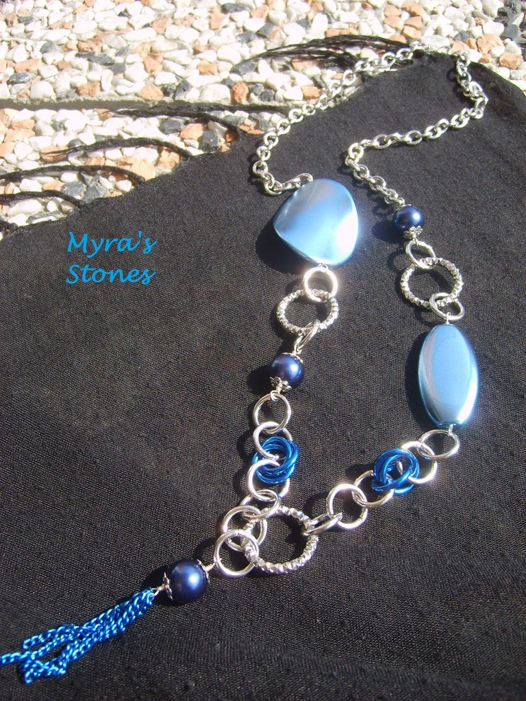 "Collana ""Silver & Blue"""