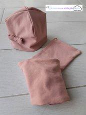 Berretta e sciarpa o scaldacollo per bambina