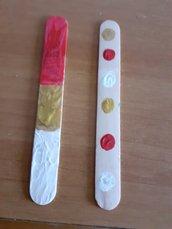 Segnalibri Natalizi con colori acrilici