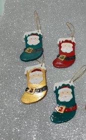 Calza con Babbo Natale da appendere all' albero