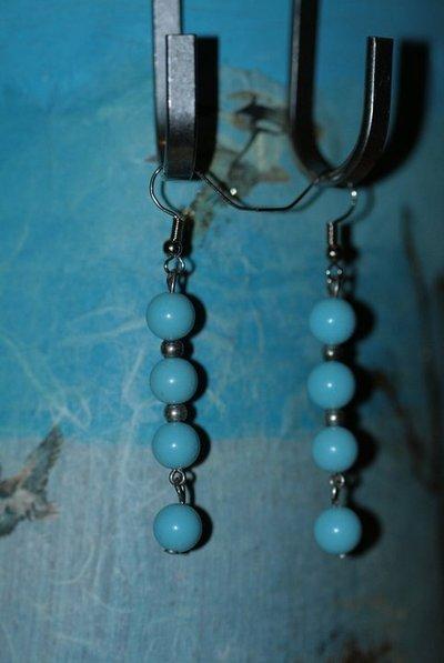 parure collana + orecchino turchese