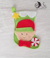 calza della befana elfo verde personalizzabile