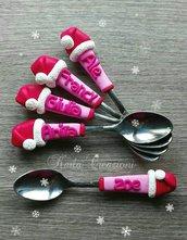 Segnaposto cucchiaini per la tavola di natale