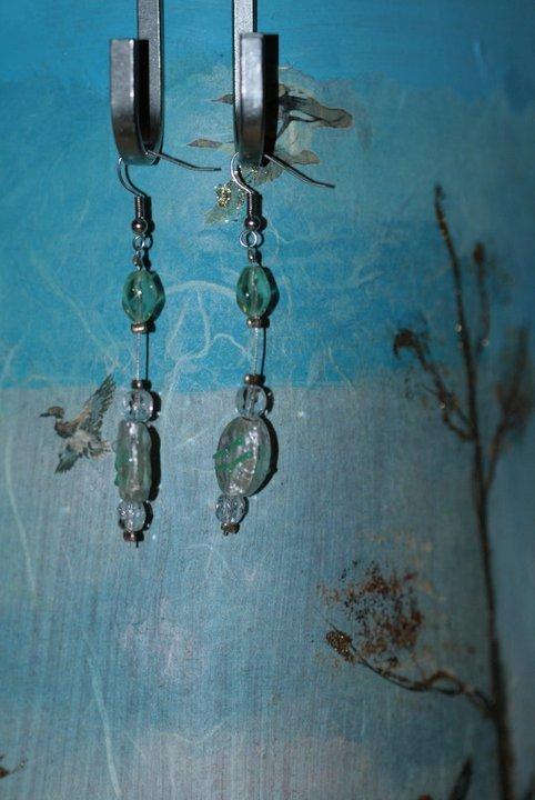 orecchini verde acqua