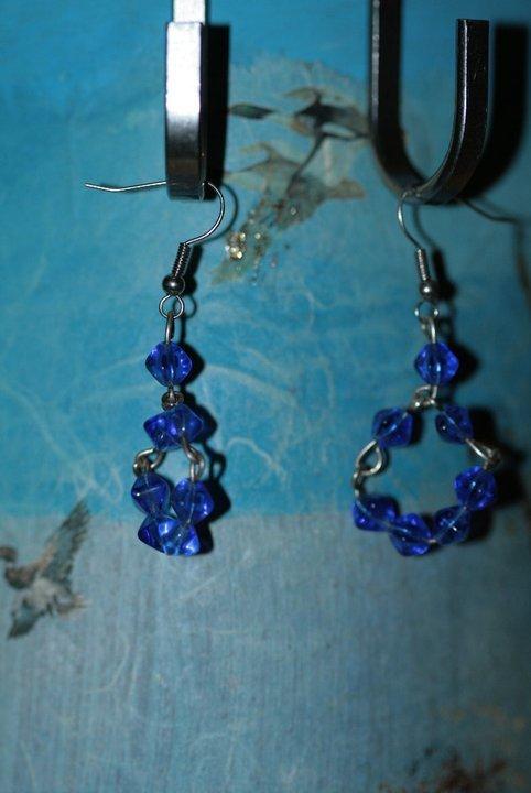 orecchini blue mezzo cristallo