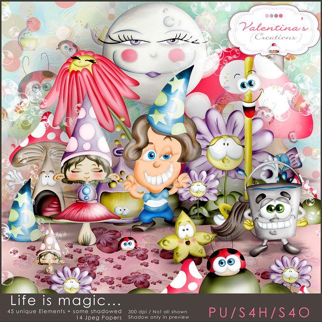 Life is Magic...  {scrapkit}