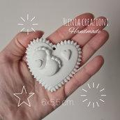 Stampo cuore con piedini e cuoricino