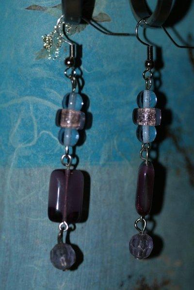 collana + orecchini viola