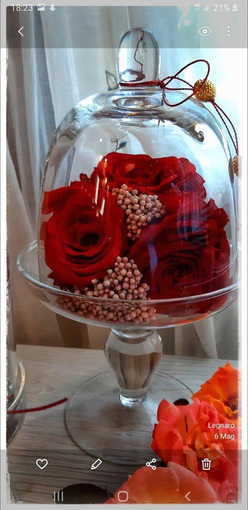 Alzatine in vetro con rose - Per la casa e per te ...
