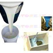 Gomma siliconica colabile professionale Flacone da 5 kg + cataliz. da 250 gr