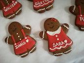 Omino pan di zenzero per lui o lei biscotti natale da regalare biscotti personalizzati