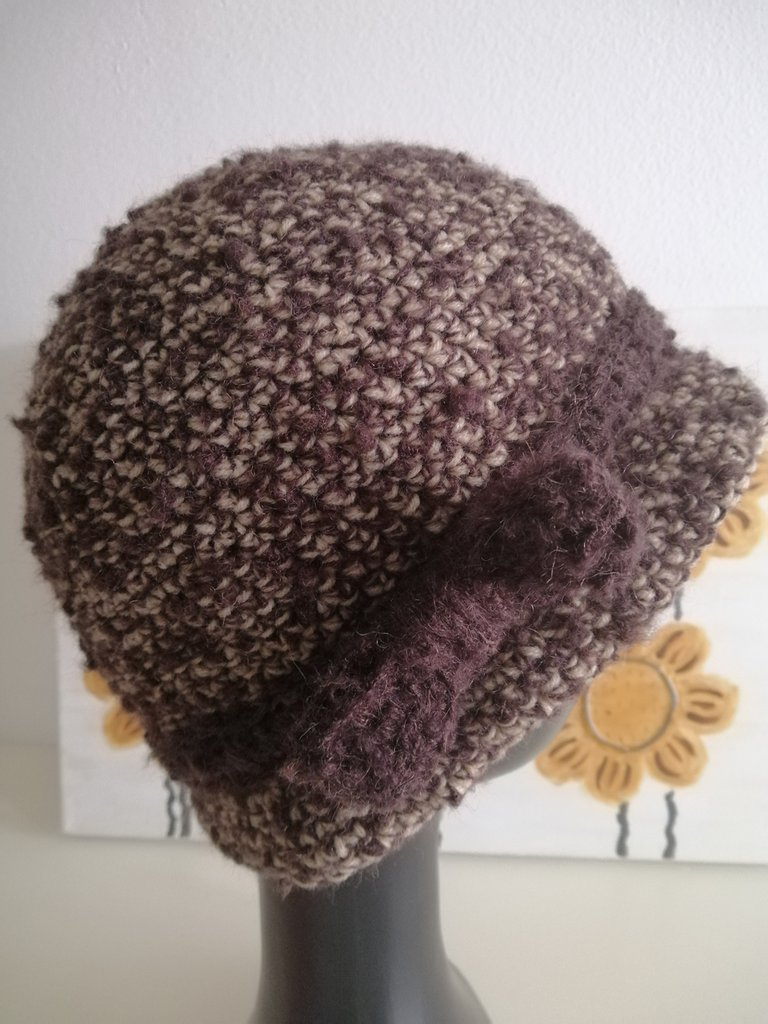 Cappello donna cloche marrone e nocciola - Donna ...