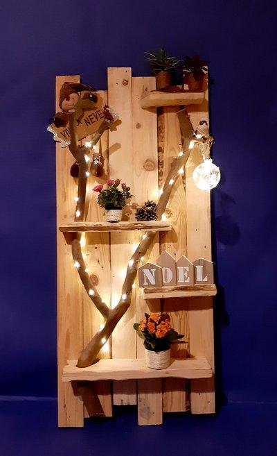 Addobbi Natalizi con luci decorazioni da parete