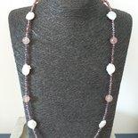 Collana lunga con perle e pietre