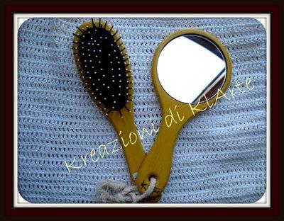 spazzola e specchio donna accessori di klarte su