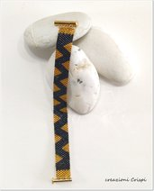 Bracciale tessitura micro perle pregiate di vetro