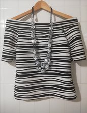 Maglietta moda manica corta www.misshobby.com usato in abbigliamento donna effetto zebra