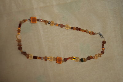 collana multi color brown