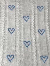copertina neonato bianca con cuori fatta a mano