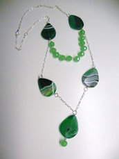 "COLLANA CON PIETRE VERE ""GREEN TEARS"""