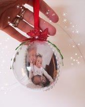 Palline natalizie con foto