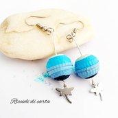 Orecchini sfera  libellula blu