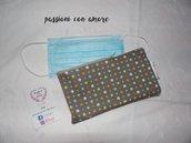 pochette impermeabile con zip portamascherine o portatrucchi idea regalo natale