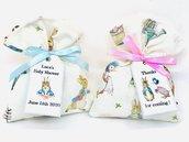 Bomboniera completa Peter Rabbit con bigliettino e confetti