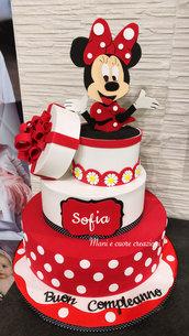 Torta Scenografica Minnie ❤️Primo compleanno
