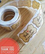 Sticker etichetta Grazie per il tuo ordine 5x3cm