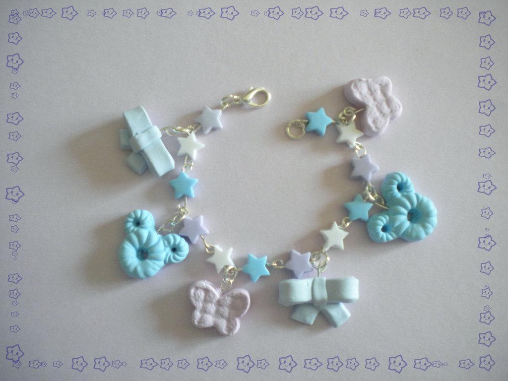 braccialetto topolino+fiocchetti