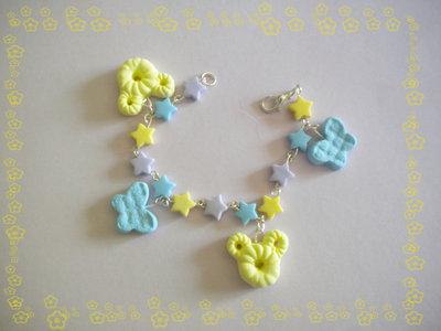 braccialetto topolino+farfalline