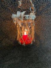 Lanterna media, decorazioni natalizie, handmade