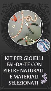 Kit per realizzare bracciali, orecchini, segnalibri e collane in pietre dure naturali fai-da-te