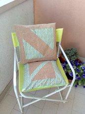 Cuscini in Sughero e Cotone: Inserti Geometrici